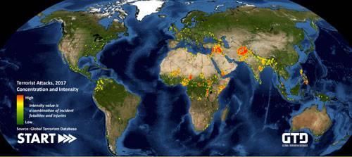 عملیات های تروریستی آسیا در گلوبال تروریست