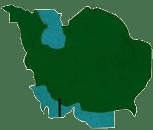 نقشه ایران 200سال پیش